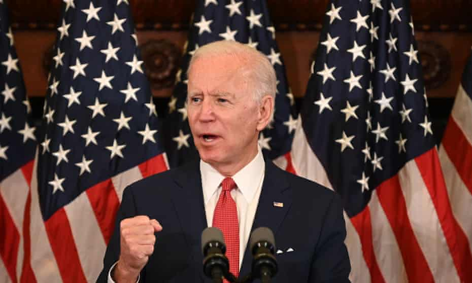 Joe Biden speaks about the unrest across the country from Philadelphia City Hall on Tuesday.