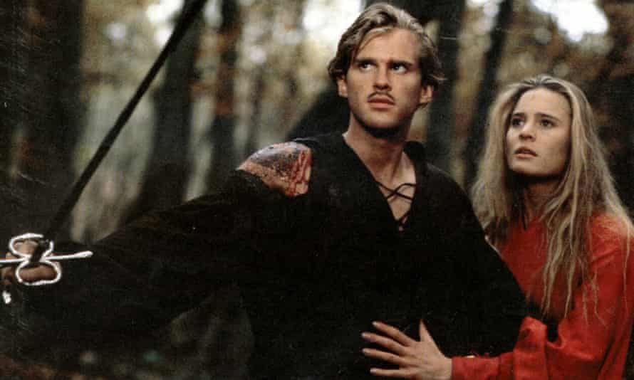 The Princess Bride, 1987, based on a book by William Golding, starred Cary Elwes and Robin Wright.