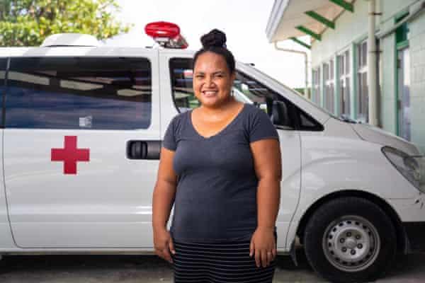Suria Eusala Paufolau, acting chief of public health, in the Princess Margaret Hospital in Tuvalu