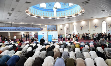 Prayers at the Lakemba Mosque in south-west Sydney.