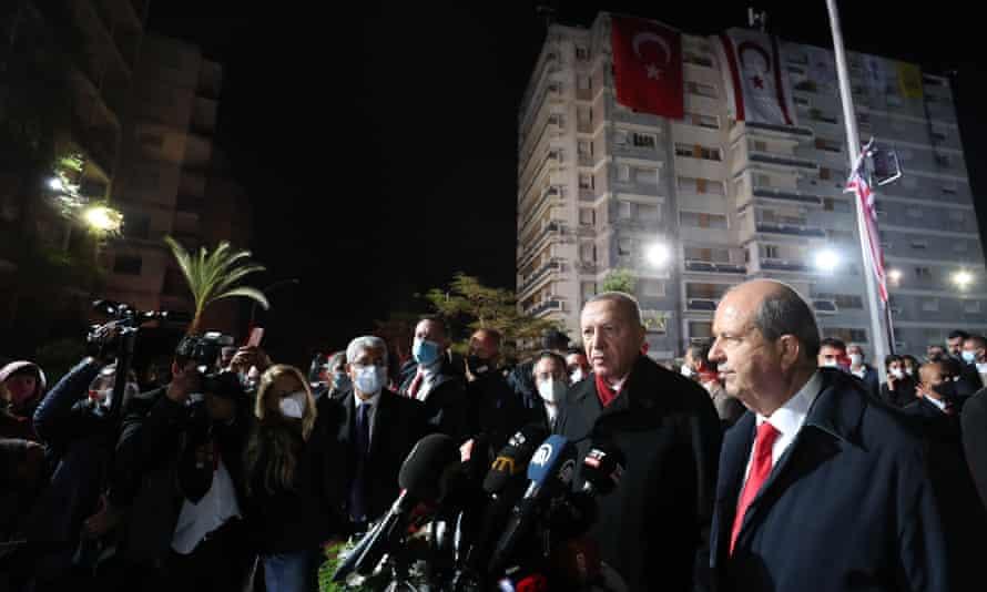 Turkish President Erdoğan visits Varosha November 2020