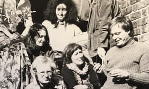 Liz Cooper, centre, wearing a scarf, with other members of the Publications Distribution Co-operative