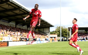 Four goals in three games for Chelsea loanee Tammy Abraham as he scores for Bristol City against Burton Albion.