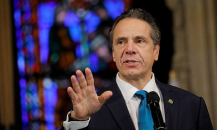 Andrew Cuomo delivers remarks on the coronavirus vaccine in New York, New York, on 15 November.
