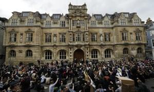 Statue protesters in college