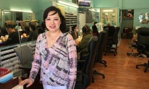 Van Nguyen at her San Francisco nail salon