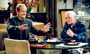 Kelsey Grammer and John Mahoney in Frasier