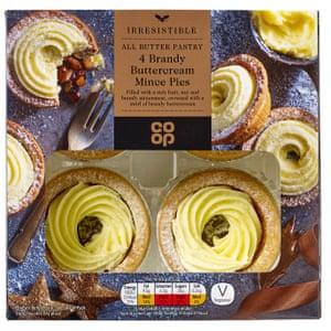 Co-op brandy butter cream mince pies