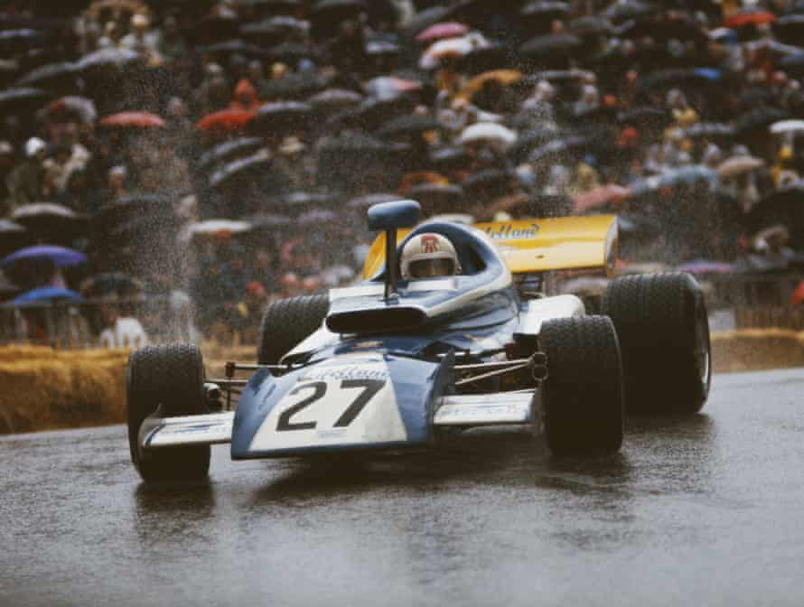 Rolf Stommelen drives the Eifelland Type 21 in the rain during the Monaco Grand Prix on 14 May 1972