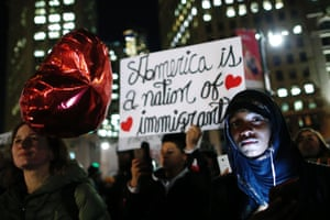 New York, US People protest against Donald Trump's immigration policies in Foley Square