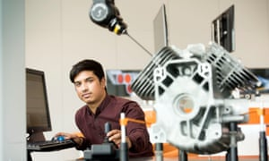 Software engineer Mohammed Choudhury, an apprentice at the Gloucestershire metrology company Renishaw.