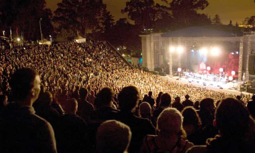 Concert at Berkeley's Greek Theatre.