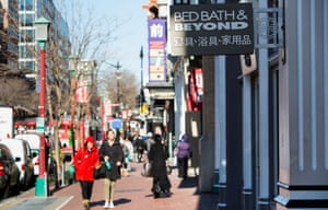 Stores display Chinese characters in Washington, DC.