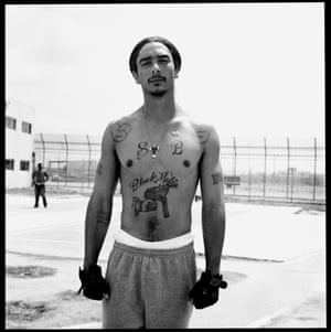 """California State Prison, 2003 (from series Coolers)""""This story is very different as I didn't have much time. I shot all these pictures [in the Coolers series] in an hour and a half while walking two yards at the California State Prison. I was the first to be given permission to photograph there and it's a big deal. The majority of these guys are 25-to-lifers and I respect their privacy. I was privileged to be allowed access by the prison, and by them."""""""