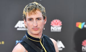 Kirin J Callinan arrives at the 31st Aria awards in Sydney on 28 November.