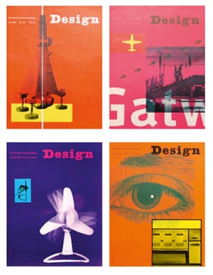 Covers from Design magazine where Garland was art editor from 1956-62