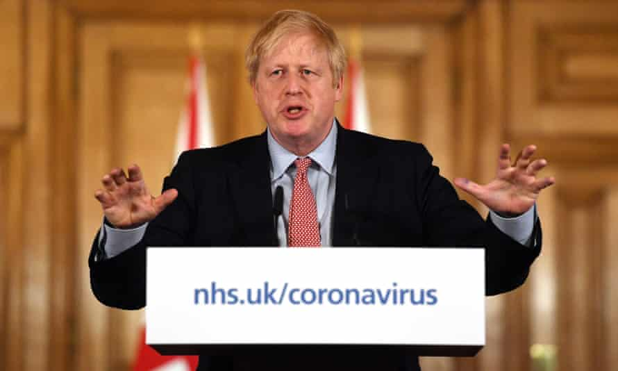 Boris Johnson at press conference on coronavirus