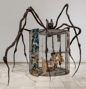 Spider (1997) – steel, tapestry, wood, glass, fabric, rubber, silver, gold and bone.