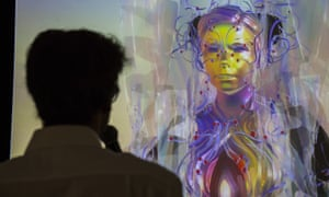 Bjork appears via a live stream as a motion-capture avatar during an event to publicise the Bjork Digital shows.