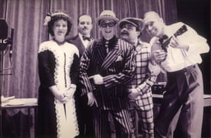Paul Whitehouse as The Fast Show's Music hall entertainer Arthur Atkinson with Arabella Weir, Charlie Higson; John Thomson and Mark Williams