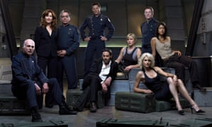 The cast of the 2004 series Battlestar Galactica, soon to be exclusive to, and rebooted on, NBC's Peacock.