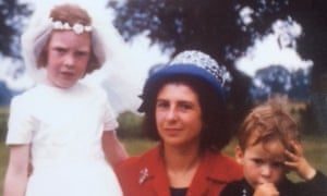 Joan Whiteley with her daughter Cathy and son Philip on the occasion of Cathy's first communion in the late 1960s