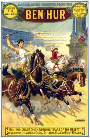 A poster for the original theatrical production of Ben-Hur, adapted by William Young