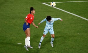 Chile's Maria Urrutia scores their second goal.