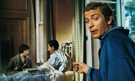 Michael Caine in a scene from Alfie, 1966; Gilbert resisted the studio's idea of casting Tony Curtis in the role.
