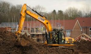 Digger on housing development