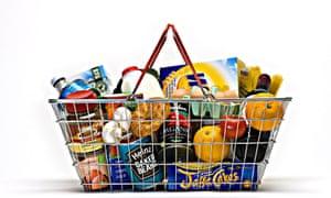Basket full of shopping
