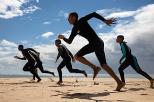 Surf training organised by homeless street kids organisation Surfers Not Street Children