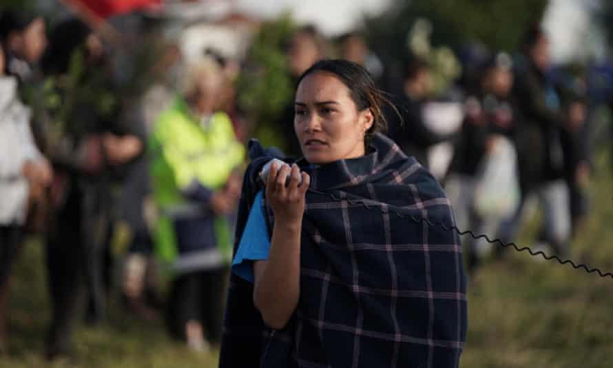 Pania Newton has called on Jacinda Ardern to visit the site at Ihumātao.