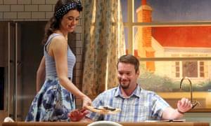 Suburban blues … Gala Gordon as Barb and Gareth David-Lloyd as Walt a in Blueberry Toast.