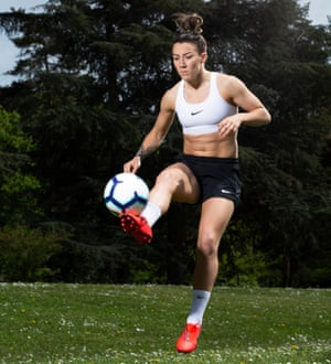 Eyes on the ball: Lucy Bronze.