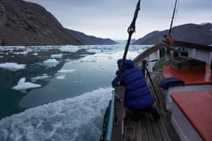 In September last year Neudecker and Thymann embarked on a joint project to detail glaciers in south-west Greenland. This area was chosen due to the dramatic examples it provides of tidewater glaciers, where the ice meets the ocean.