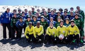 Vikki Allan officiated at a match on Mount Kilimanjaro 5,685m above sea level.