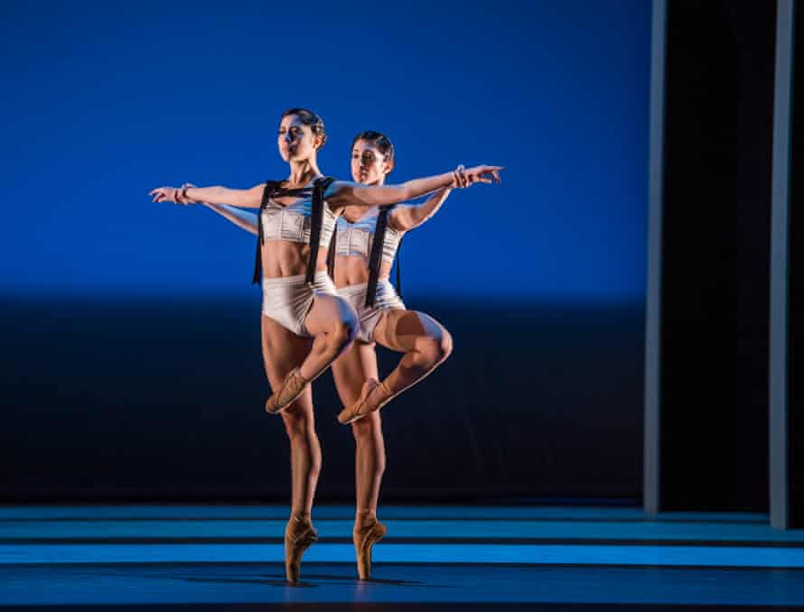 Beatriz Stix-Brunell and Yasmine Naghdi in Corybantic Games, part of the Bernstein Centenary Triple Bill at the Royal Opera House in 2018.