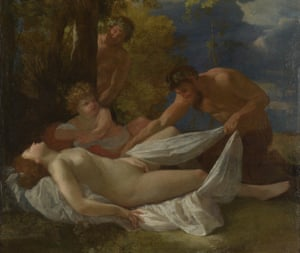 Poussin's Nymph With Satyrs (c1627).