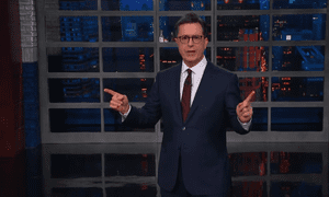Stephen Colbert: 'And who does Trump think is a TV lawyer upgrade? Former New York mayor Rudy Giuliani.'