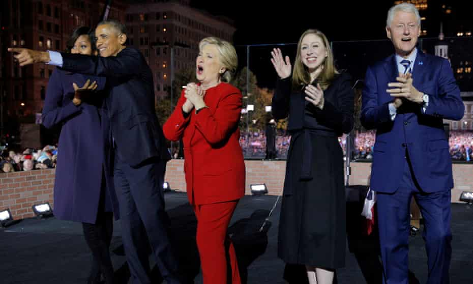 Media moves … the Obamas and the Clintons in November 2016.