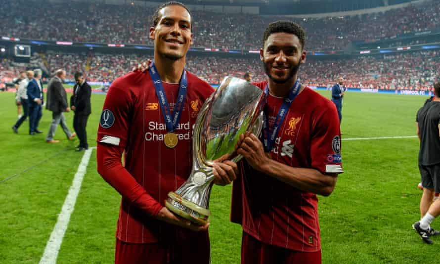 Virgil van Dijk and Joe Gomez lift the Super Cup but Liverpool's defence have not been at their best