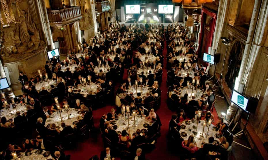 A place at the table ... the Man Booker prize award ceremony in London, photographed in 2009.