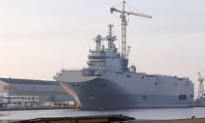 Vladivostok, one of the two Mistral-class helicopter carriers ordered by Russia, which underwent sea trials last year.