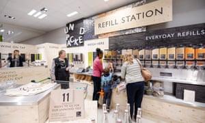 Refill station in Waitrose, Oxford