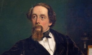 detail from portrait of Charles Dickens.