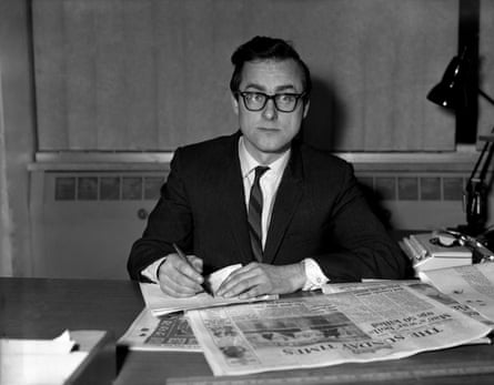 Harold Evans, newly appointed editor of the Sunday Times, in his office at Thomson House in 1967.