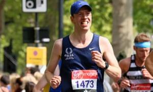 Alex Betts competing in the London Marathon.