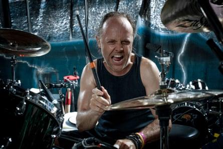 Lars Ulrich photographed at Metallica HQ, California.