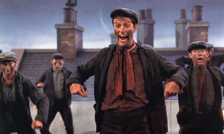 Maybe it's because he's a Londoner: 'Cockney' Dick Van Dyke in Mary Poppins.